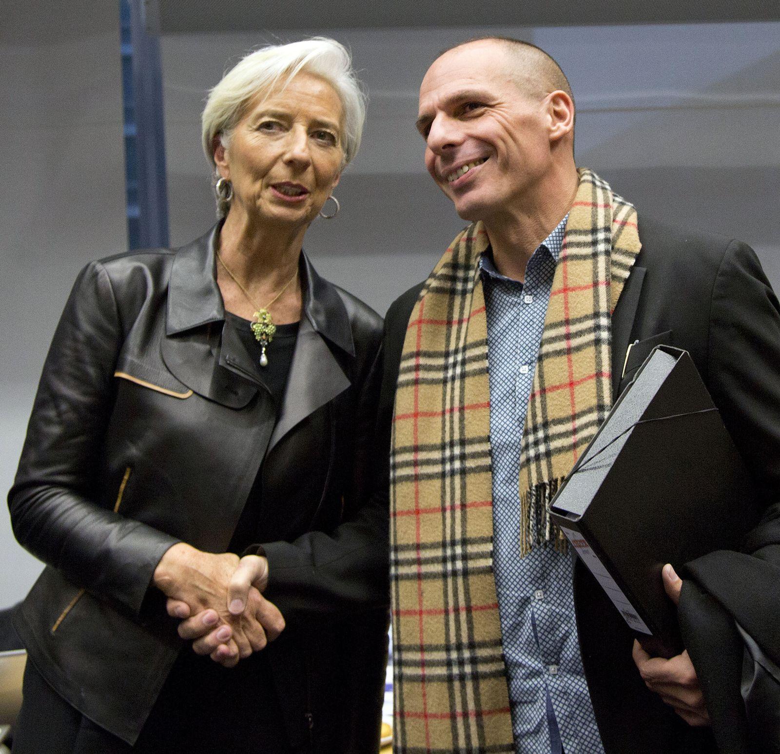 Lagarde / Varoufakis / Griechenland / Schulden / IWF