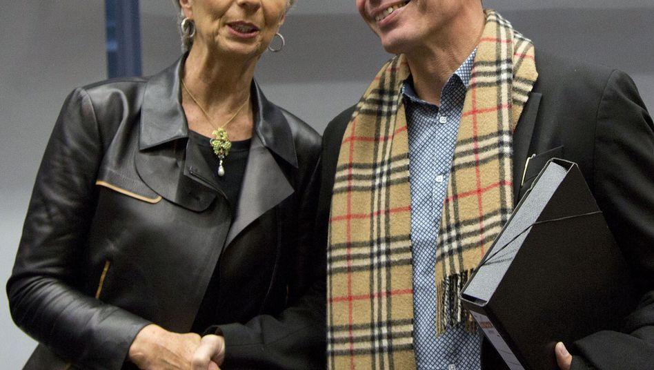 Lagarde mit Griechenlands Finanzminister Varoufakis: Krach in der Leitung