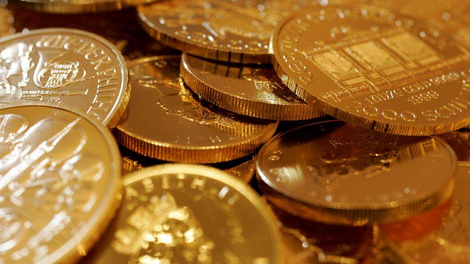 Goldmünzen in Tokio (Symbolbild)