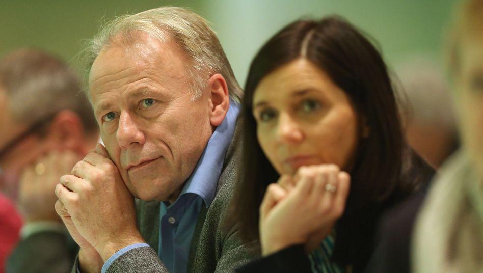 Grüne Spitzenleute Trittin, Göring-Eckardt: Schutz für Edward Snowden