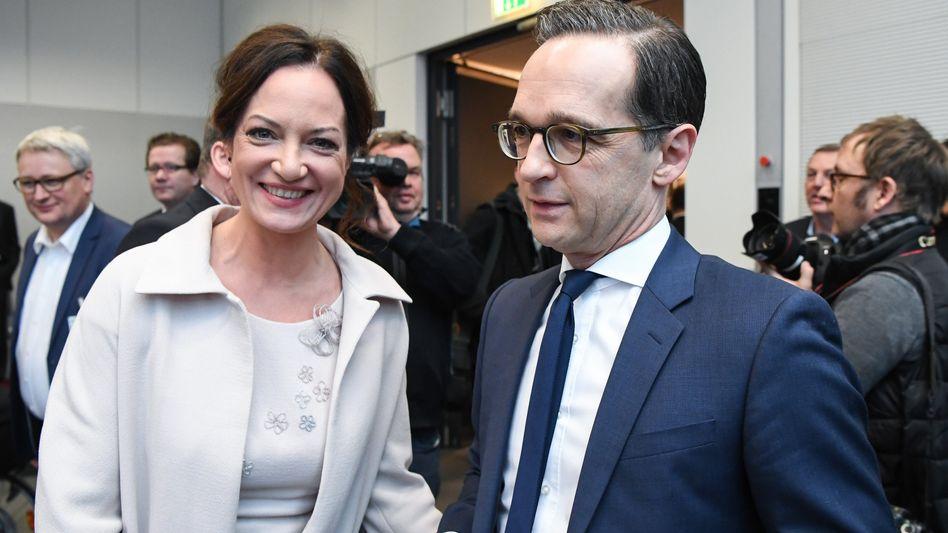 Natalia Wörner und Bundesjustizminister Heiko Maas (SPD) in Berlin (Archivfoto)