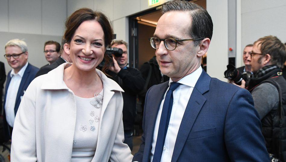 Natalia Wörner mit Bundesaußenminister Heiko Maas (Archivbild)