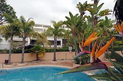 Quartier unter Palmen: Im Rio Park Garden Hotel residiert die DFB-Auswahl
