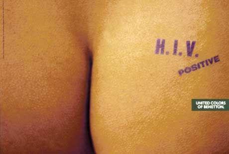 Stein des Anstoßes: HIV-Plakat von Benetton