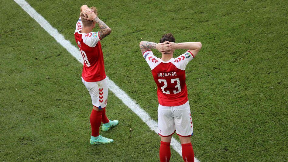 Die dänische Mannschaft steht unter Schock