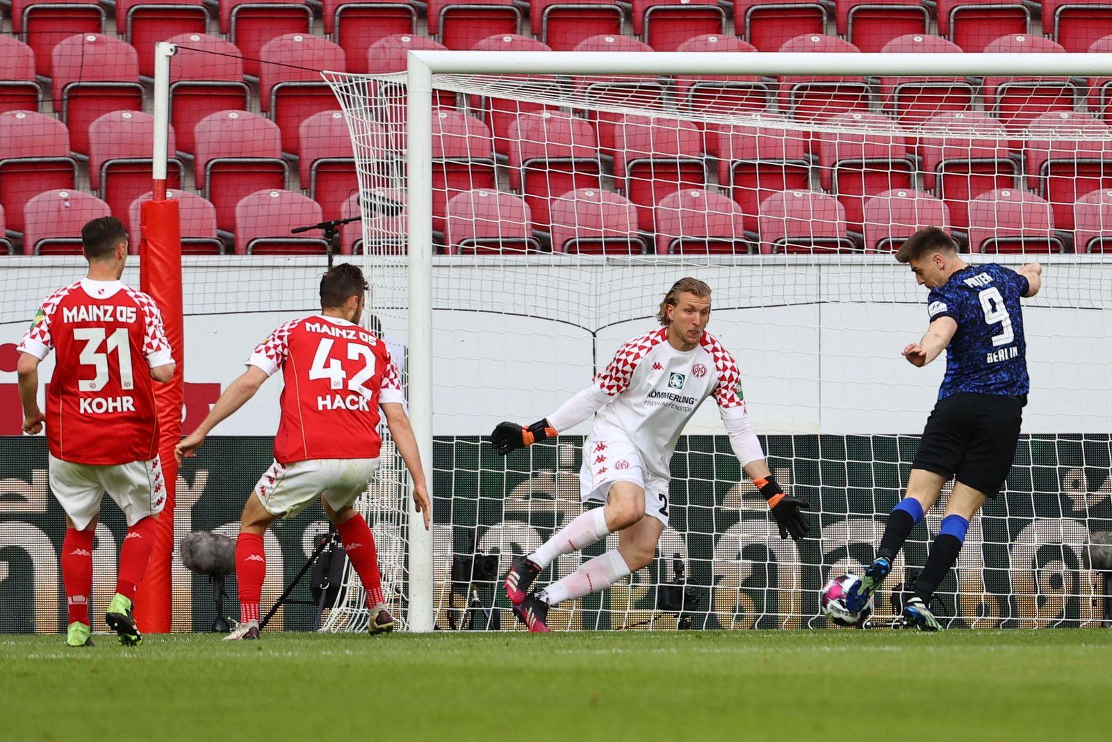 Football: Bundesliga - day 29: Mainz 05 v Hertha Berlin
