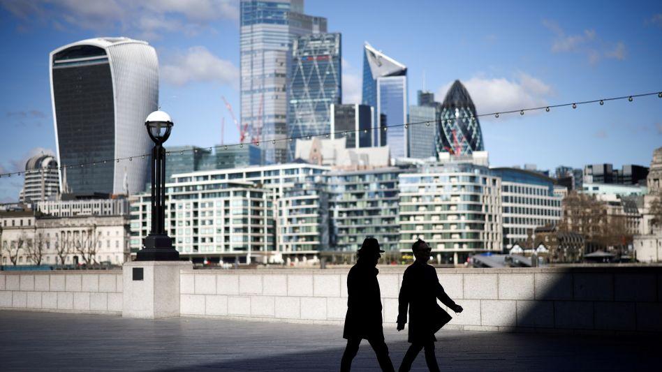Finanzdistrikt der britischen Hauptstadt London