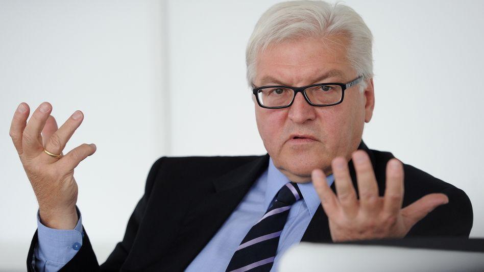 """SPD-Fraktionschef Steinmeier: """"Ich werde den Grünen keine Ratschläge erteilen"""""""