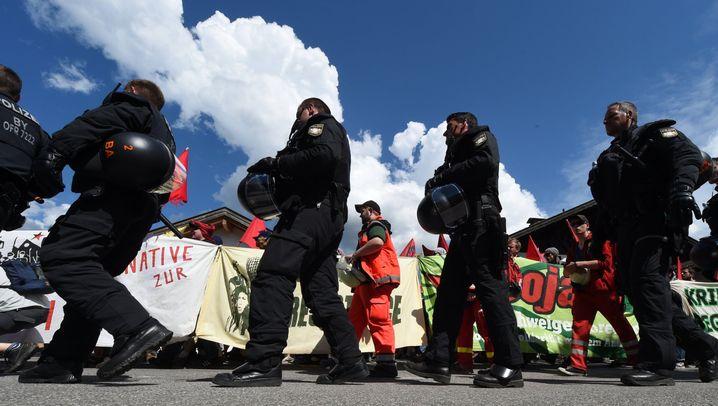 Proteste gegen G7-Gipfel: Übermächtige Polizei