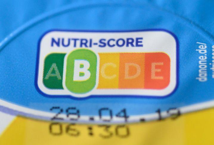 Nutriscore-Kennzeichnung auf einem Joghurt
