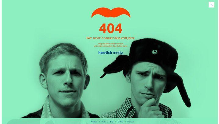 """""""t3n"""" sammelt """"404 Error"""": Die kreativsten Fehlerseiten"""