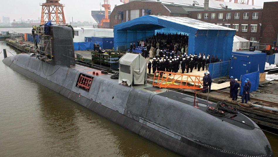 A Class 209 submarine built for South Africa in 2005.