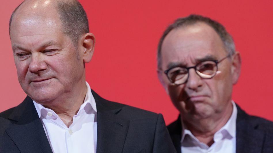 Finanzminister Scholz, SPD-Chef Walter-Borjans