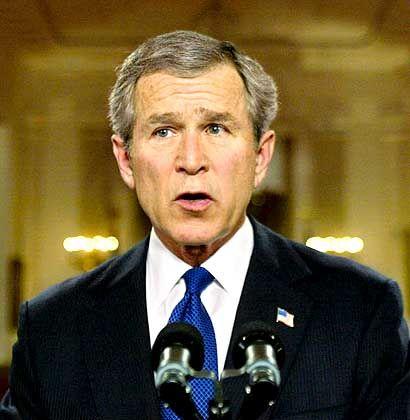 Präsident Bush bei der Verkündung des Ultimatums: Verstoß gegens Völkerrecht?