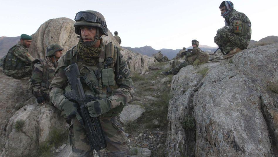 Französische und afghanische Soldaten in der Provinz Kapisa: Sorge vor Attacken