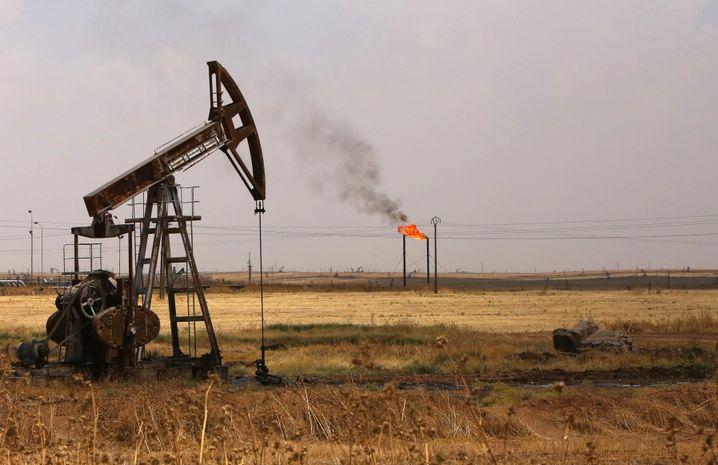 Ölförderung in syrischer Hasakeh-Provinz (Juli 2015)