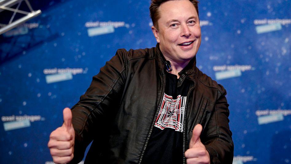 Elon Musk bei einer Preisverleihung im Dezember 2020