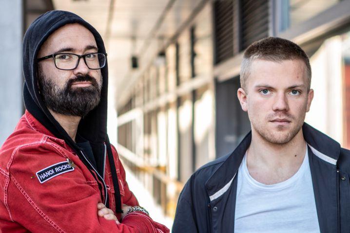 """VG""-Reporter Gordon Andersen und Ådne Husby Sandnes"