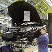Produktionspause bei Daimler: Die Mercedes-C-Klasse wird fünf Wochen lang nicht gefertigt.