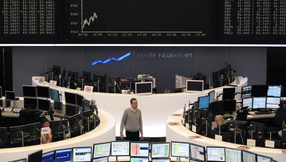 Dax-Tafel in Frankfurt: Einen Tag nach den EU-Beschlüssen kehrt Ernüchterung ein