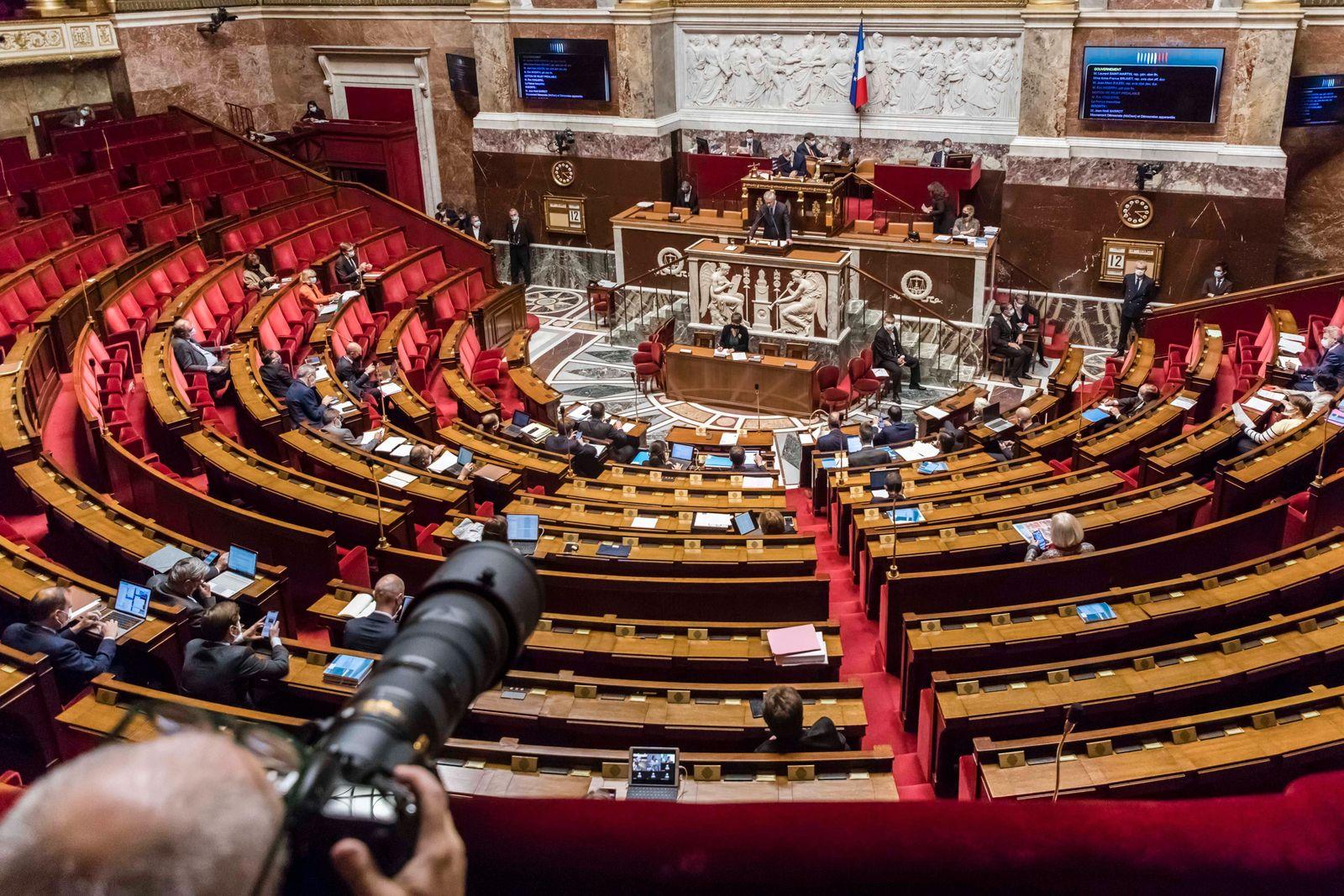 Frankreich, Sitzung der Nationalversammlung in Paris Paris, France October 12, 2020 - Discussion of the finance bill for