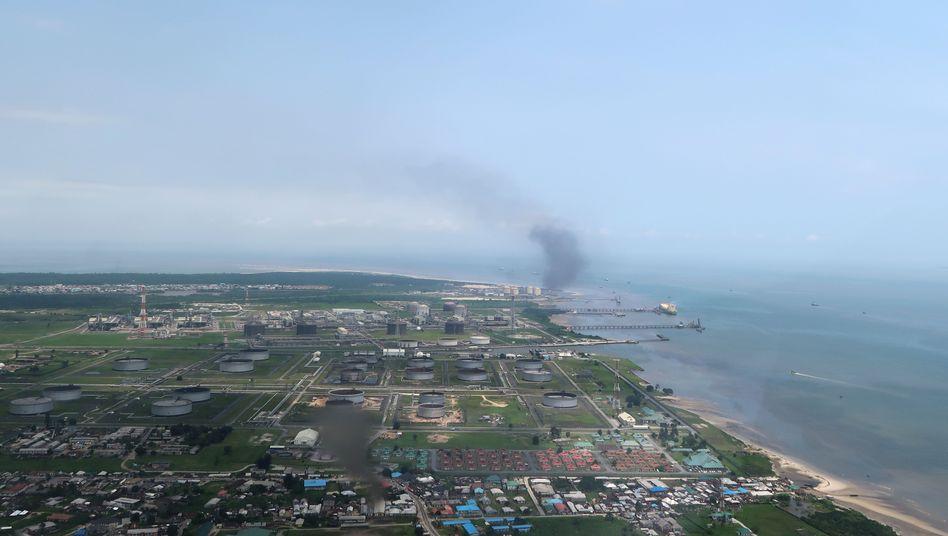 Das Ölverladezentrum Port Harcourt in Nigeria