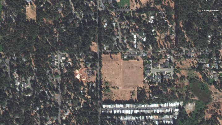 Ridgewood Mobile Home Park und Pentz Road in Paradise