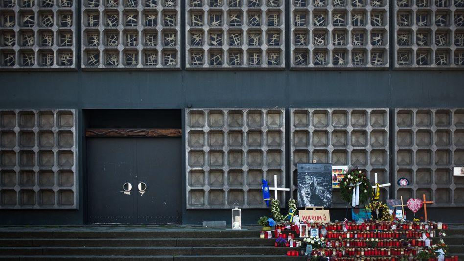 Gedenkstelle für die Opfer des Anschlags auf dem Breitscheidplatz in Berlin