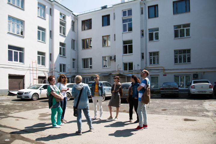 Erkundung eines Stadtviertels in Jekaterinburg