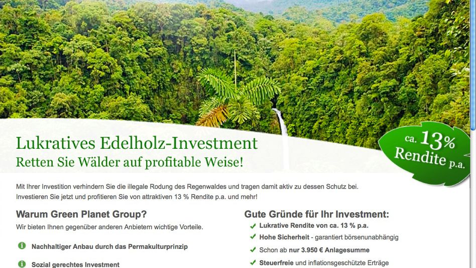 Werbung der Green Planet Group: Erfundener Ökostandard?
