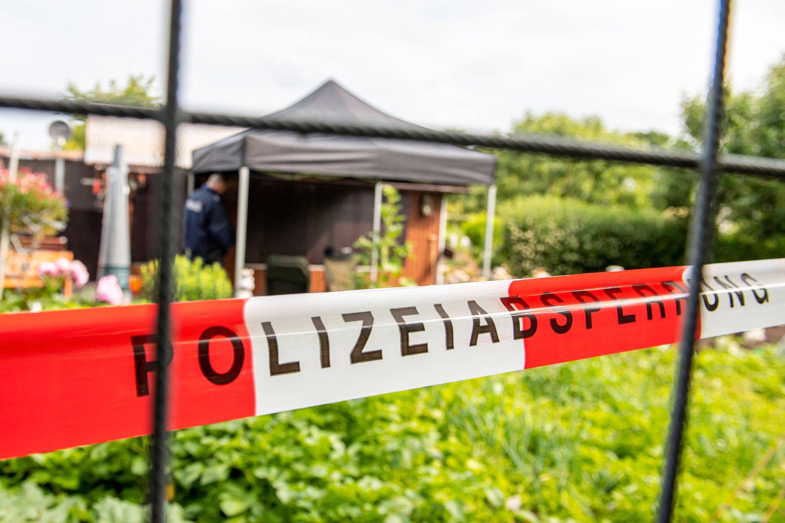 Kindesmissbrauch in Münster Gesellschaft: Kriminalität, Prozesse. Die Polizei hat die Gartenlaube in der Kleingartenanl