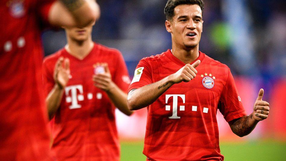 Erfolgreicher Einstand: Coutinho wurde beim Sieg auf Schalke eingewechselt