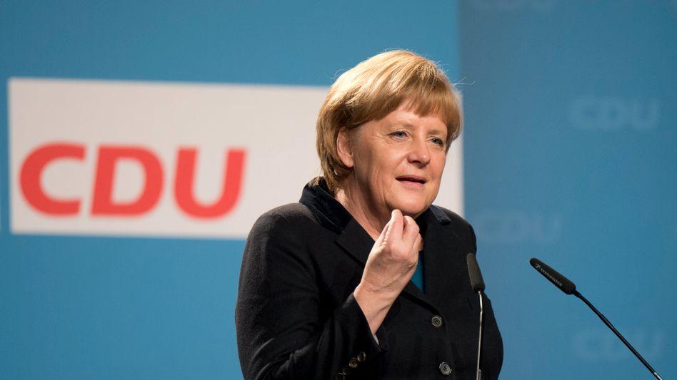 CDU-Chefin Merkel: Allein weit vor SPD und Grünen