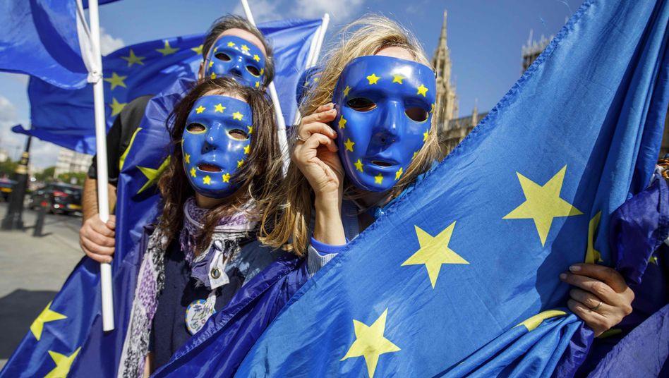 Demo von EU-Anhängern in London im September 2017