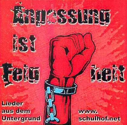 """Cover der Rechtsrock-CD: """"Hart an der Grenze zur Strafbarkeit"""""""