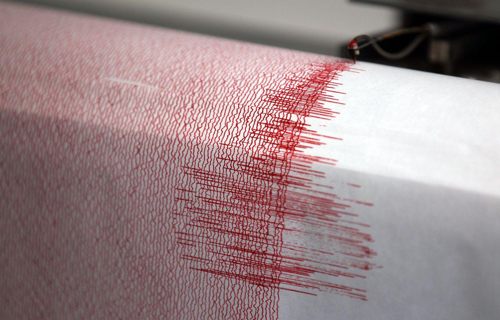 Erdbeben/ Seismograph/ Symbolbild