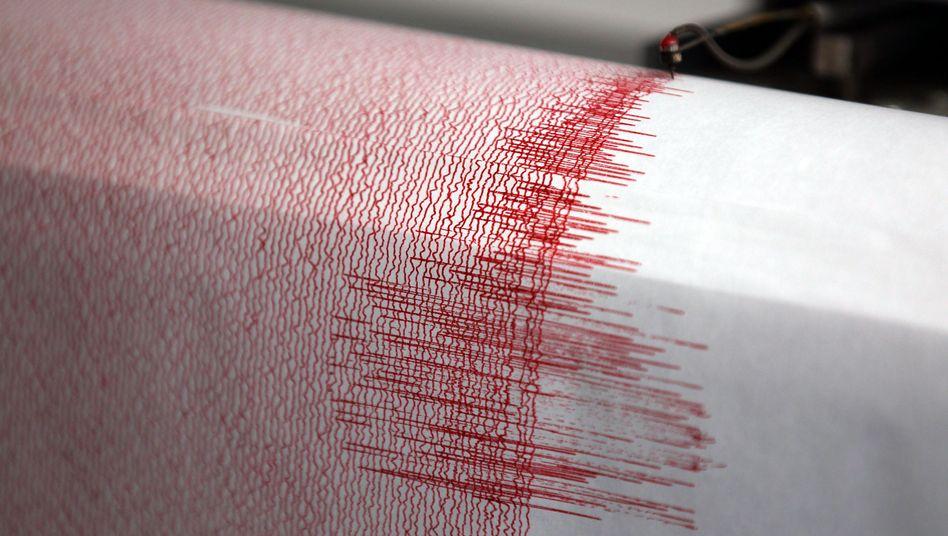 Seismograph bei der Aufzeichnung (Archivbild)