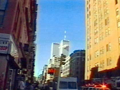 "Attack on the World Trade Center's North Tower: ""Death will seek you out, even in towers built up strong and high."""