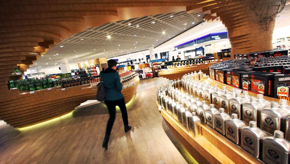 Duty-free-Shop am Flughafen Frankfurt