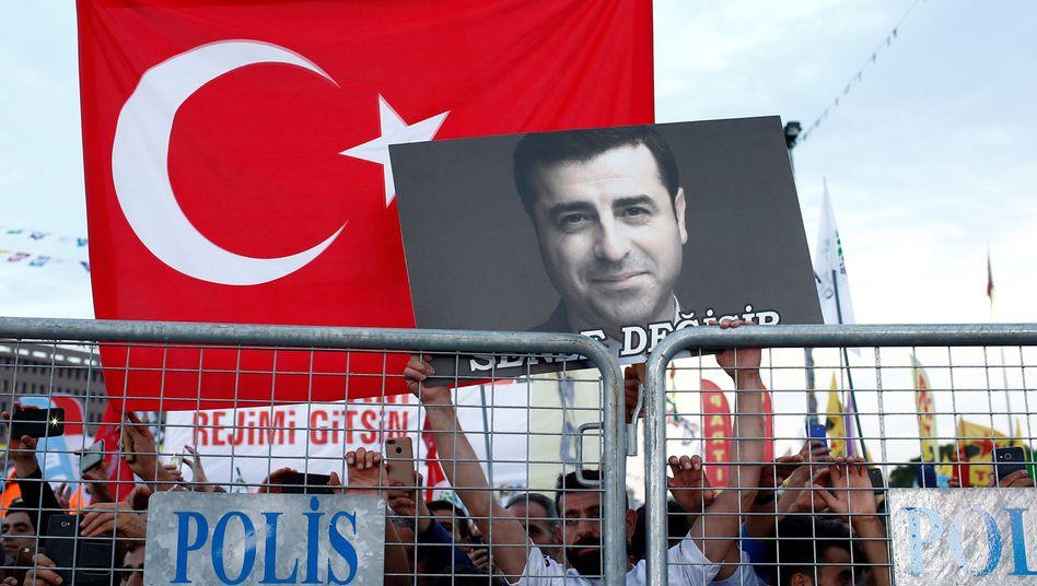 Demirtas-Unterstützer in Istanbul