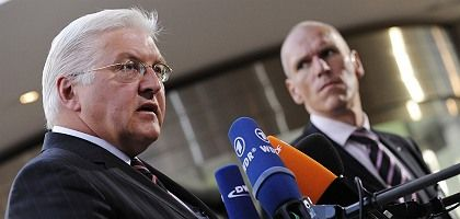 German Foreign Minister Frank-Walter Steinmeier in Brussels on Tuesday.