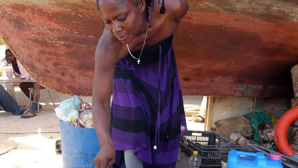 Feuerstelle in nigerianischem Flüchtlingscamp (September 2011): Gefahr durch Rauch