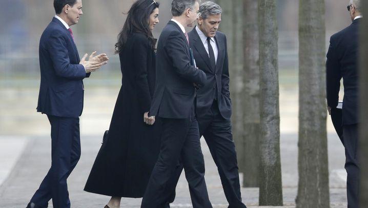 """Clooney treffen Flüchtlinge: """"Elektroschocks, Schläge und so weiter"""""""