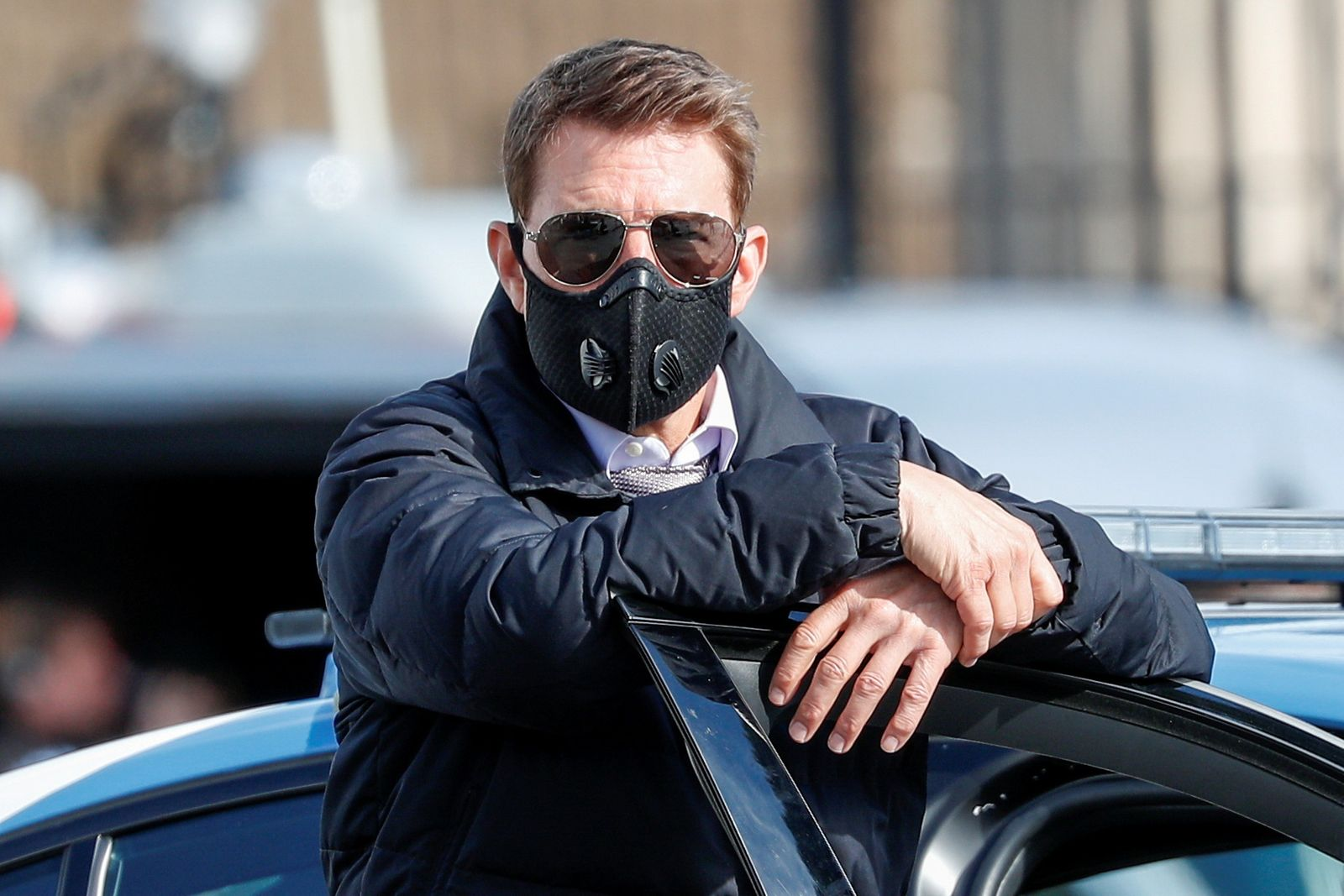 FILE PHOTO: Tom Cruise takes filming of Mission Impossible 7 down to the colosseum in Rome