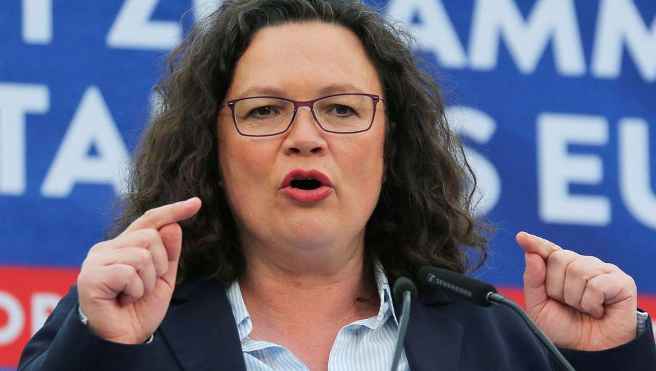 SPD-Partei- und Fraktionschefin Andrea Nahles
