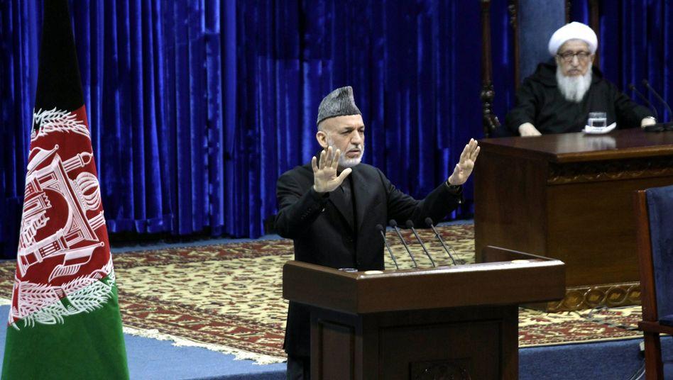 Afghanistans Präsident Hamid Karzai: Streit mit den USA