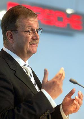 Wendelin Wiedeking (auf der IAA): Geschäft absichern mit der VW-Beteiligung