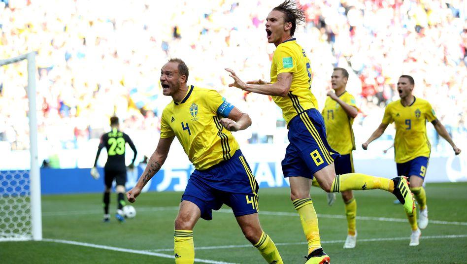 Jubelnde Schweden