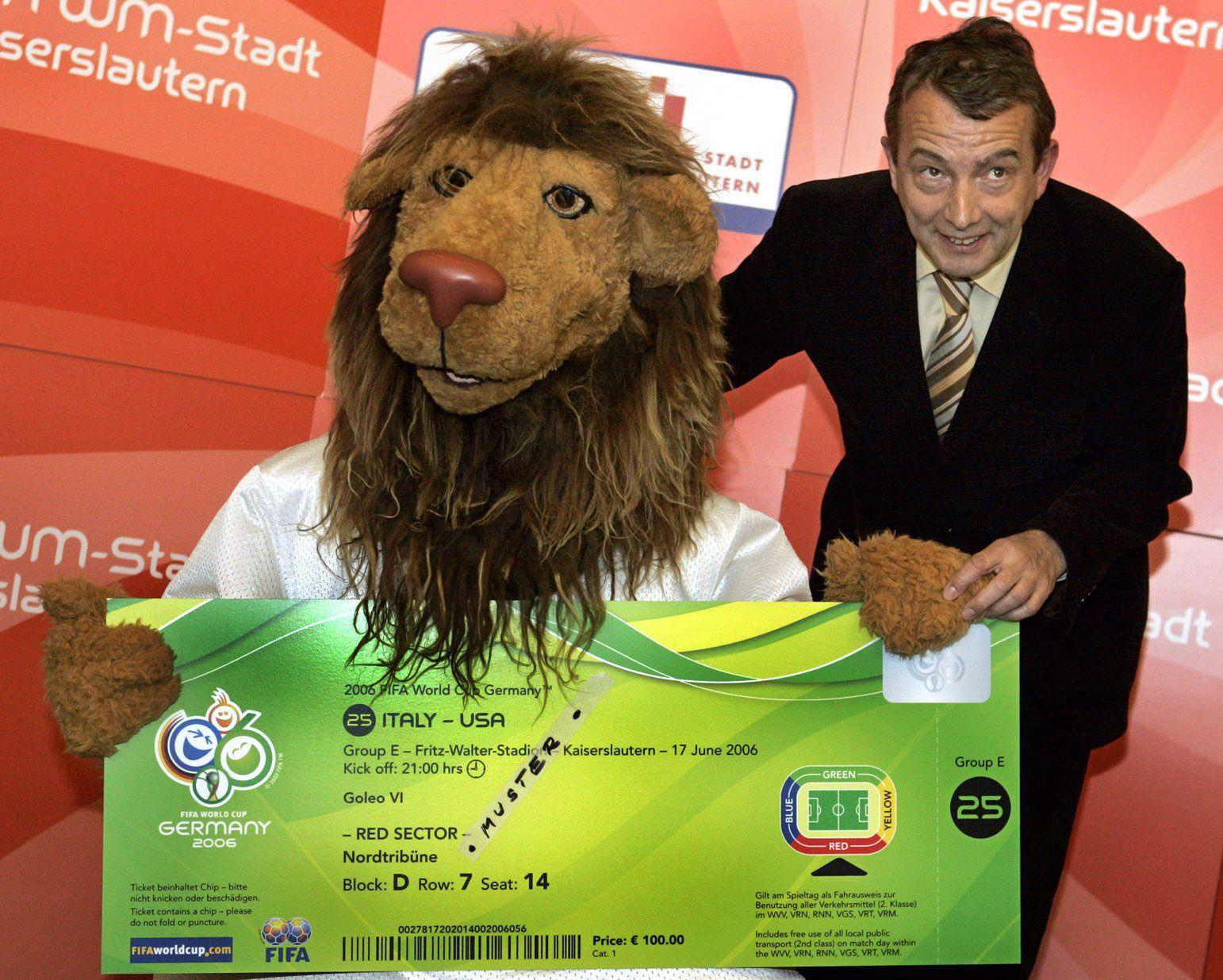 WM 2006 - Präsentation des WM-Tickets