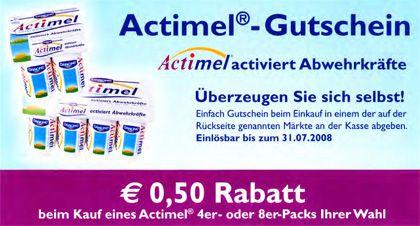 Actimel-Gutschein: Rabattaktion selbst in Arztpraxen